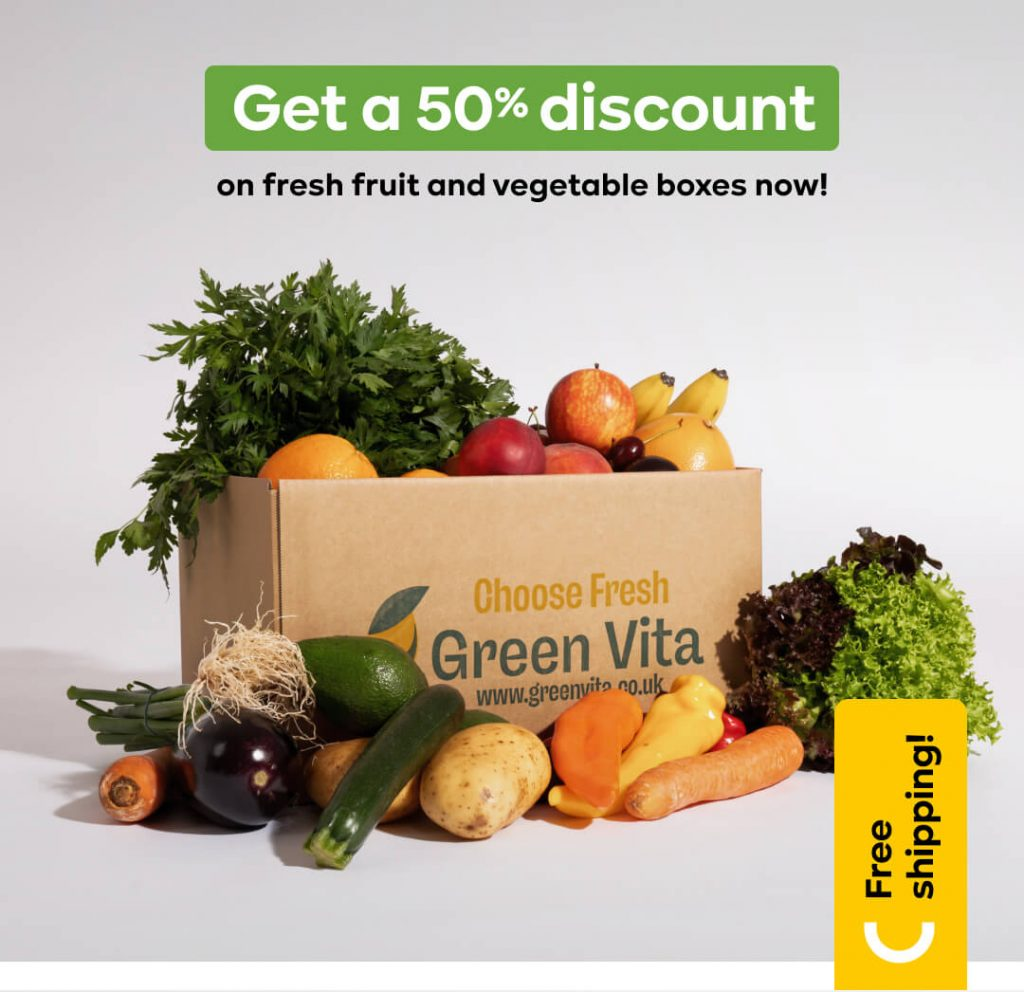 Greenvita fruit and vegetable box delivery every week